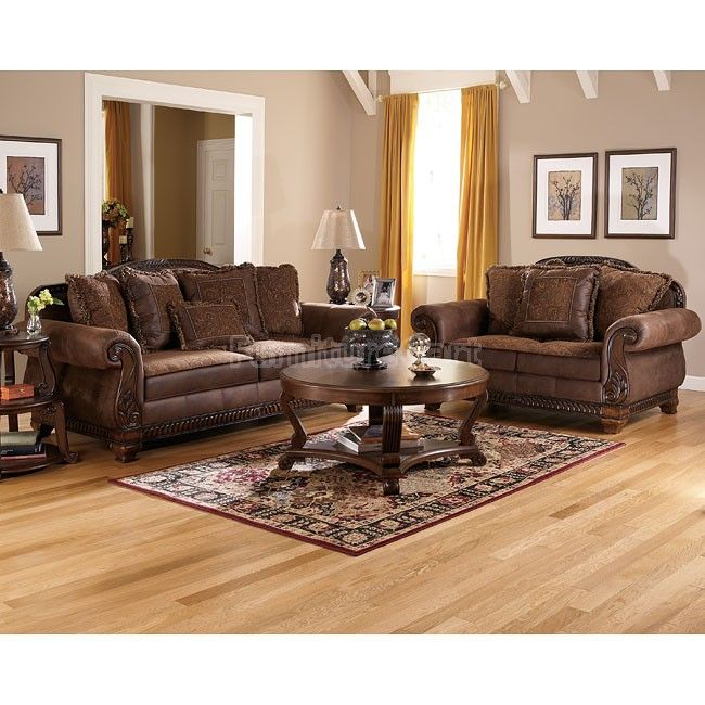 Bradington Truffle Living Room Set Signature Design