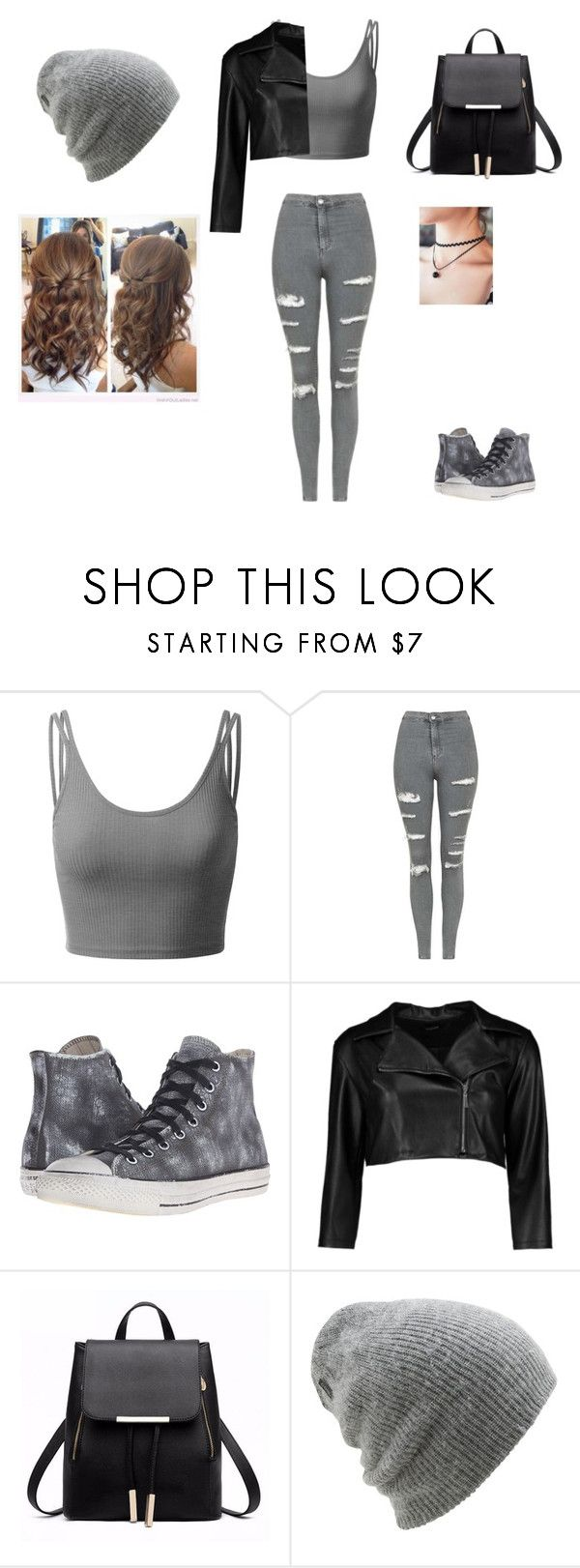 """Untitled #165"" by kendall-01 ❤ liked on Polyvore featuring Doublju, Topshop, Converse, Boohoo and Coal"