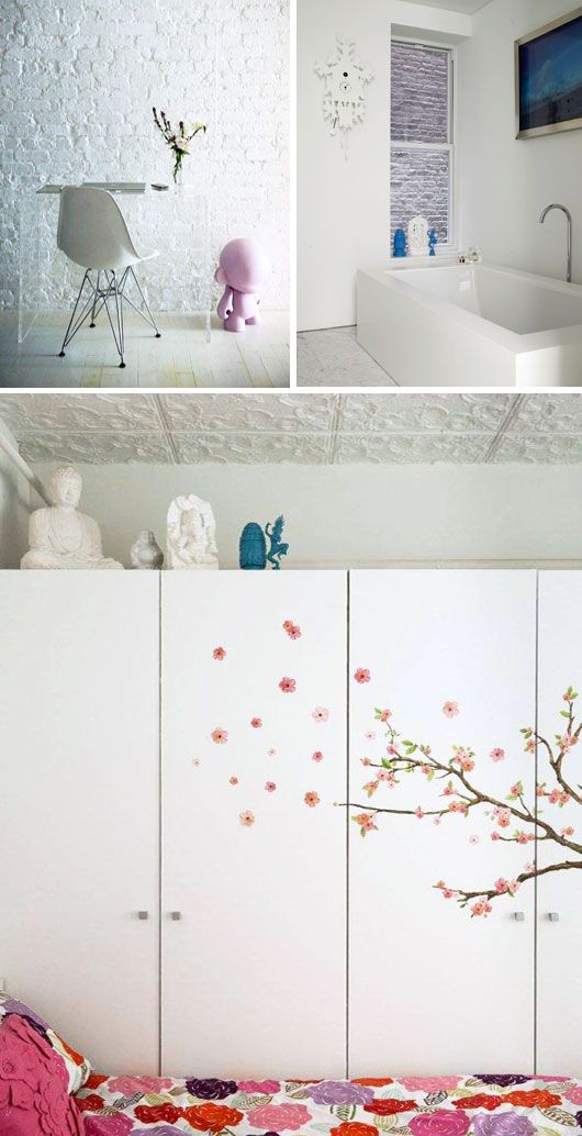 photography by matthew williams for living etc.: Closet Doors, Blossoms Wall, Bedrooms Design, York Loft, Blossom Trees, Cherries Blossoms Trees, Blossoms Murals, Closet Ideas, Cherry Blossoms