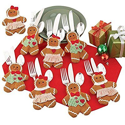 Amazon.com: Holiday Gingerbread Utensil Holder - Set of 8: Kitchen & Dining