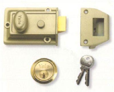 Yale Rim Nightlatch With Cylinder Nickel Bronze - locks & latches - nightlatches - YALE Rim Nightlatch With Cylinder Nickel Bronze - Timber, Tool and Hardware Merchants established in 1933