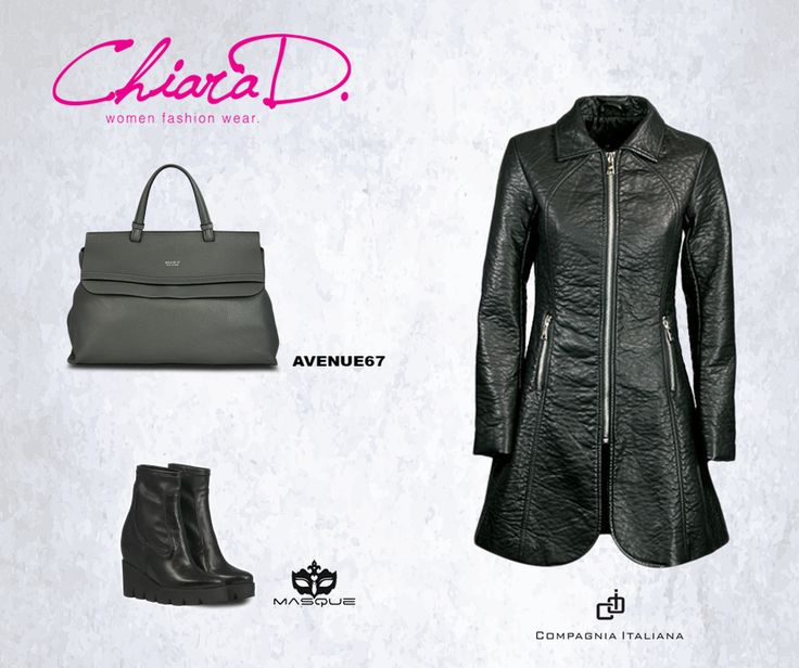 Un look #totalblack: Il trench in pelle di Compagnia Italiana, l'inconfondibile stivaletto di Masque, il tutto arricchito dalla borsa Avenue67 color grigio antracite. Cosa aspetti a mostrare il tuo lato più #dark? www.chiarad.it  #Fashion #Style #Clothing #Women #Outfit #DressesForWomen #moda #sconti #saldi