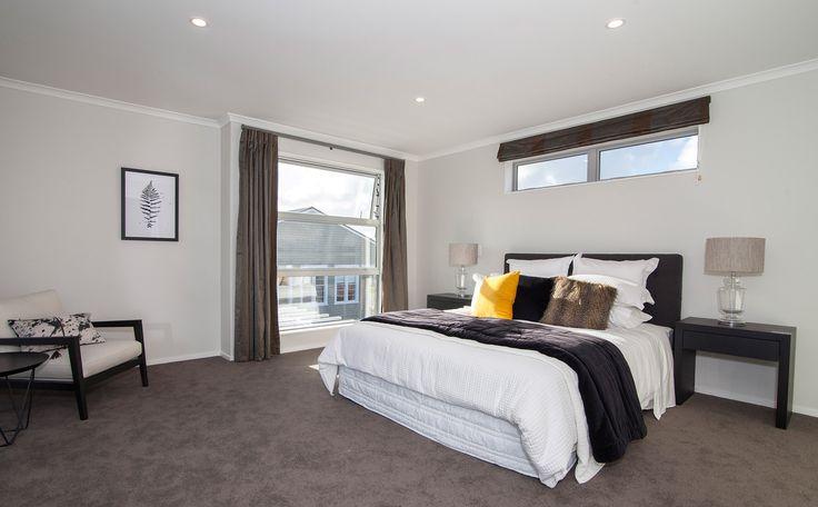 A spacious master bedroom.