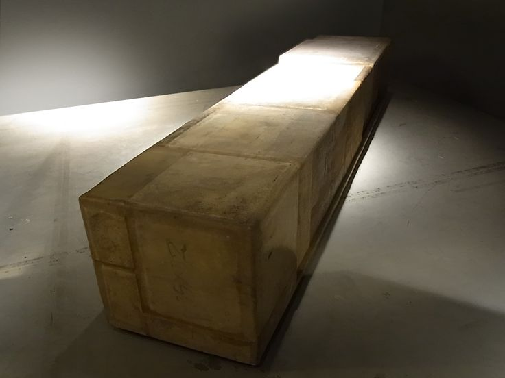 Vincenzo De Cotiis, Chest | 2004 Prototype/Unique Piece, Recycled fibreglass and waxed mdf, W 300 x D 60 x H 57 cm, Prototype/Unique Piece, Country of realization – Italy #vincenzodecottis #chest #prototype #uniquepiece #recycledfibreglass #waxedmdf #mdf #design #interiordesign #erastudioapartmentgallery #madeinitaly #gallery #milan #italy
