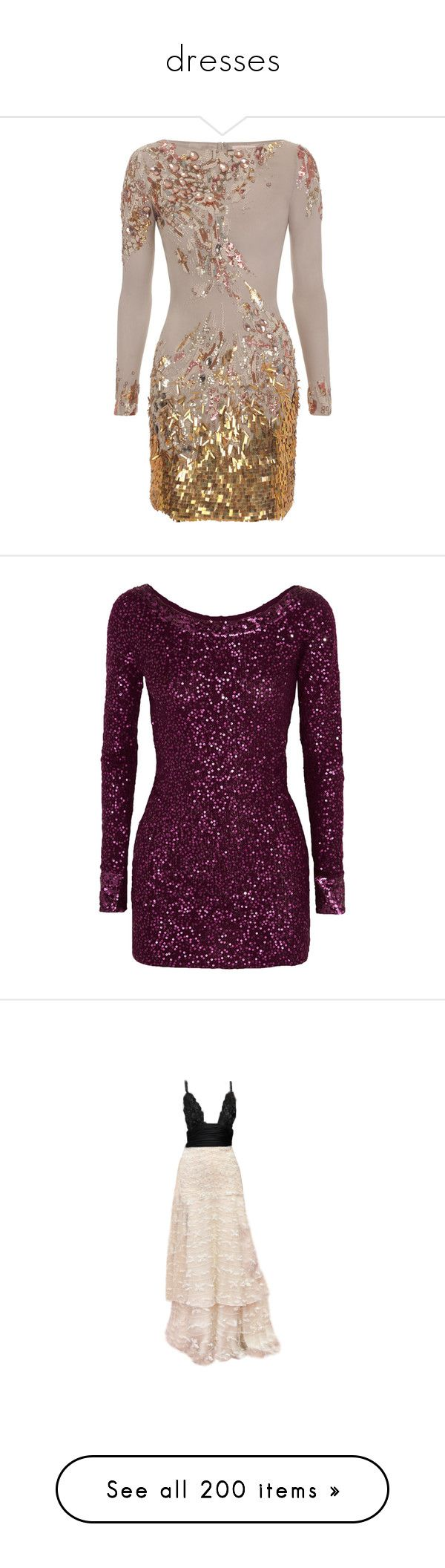 """""""dresses"""" by anninhaelisaa ❤ liked on Polyvore featuring dresses, vestidos, short dresses, robes, short sequin cocktail dresses, sequin cocktail dresses, short sequin dress, sequin mini dress, long sleeve cocktail dresses and tops"""