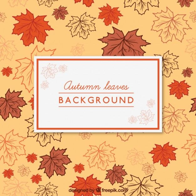 Free vector Autumn leaves background #24530
