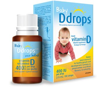 Ddrops Baby Vitamin D 400 IU: Baby Ddrops™ is a liquid vitamin D designed specifically for breastfed babies and infants. Only 1 drop is required to provide the full daily dose as recommended by the Canadian Paediatric Society and the American Academy of Pediatrics, making it a convenient and easy way to give your baby the nutrients that he/she needs.