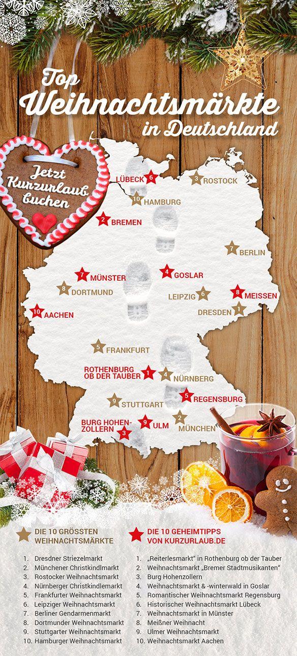 TOP 10 der beliebtesten Weihnachtsmärkte in Deutschland
