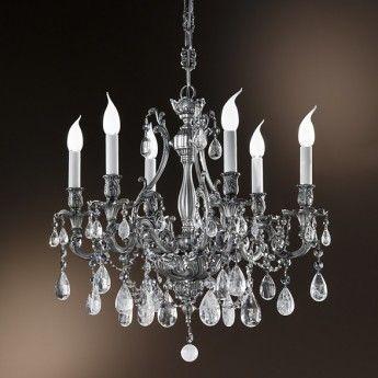 Klasyczna lampa wisząca z serii 093 - producent Possoni. #Possini #093 #lampy_wiszące #lampy_kryształowe #kryształy #metal #srebro #sliver #modne_lampy #wnętrze #interior #design #lampy_do_salonu #salon #lampy_kraków #abanet_kraków #lampy_abanet
