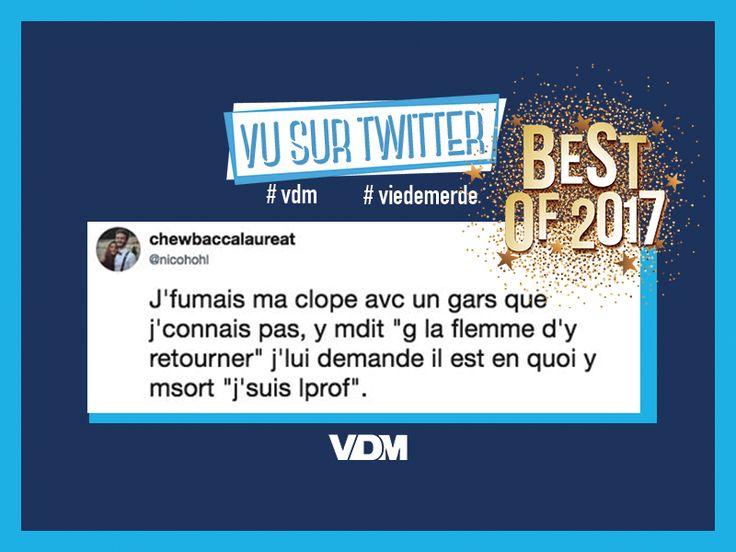 VDM : Ça y est, 2017, c'est fini, il est grand temps de vous régaler avec un joli best of bien VDM des tweets les plus golri de l'année.