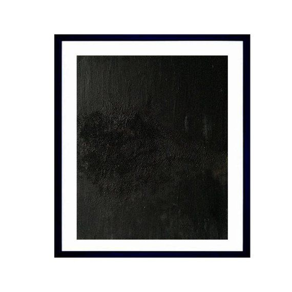 Original Black Abstract Painting With Heavy Texture On 10 X 12 Inch Canvas Panel Black On Black 2019 By Dee Rob Canvas Texture Black Abstract Canvas Painting