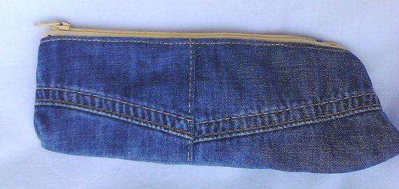 soft light blue denim purse by creatingbyVilly on Etsy