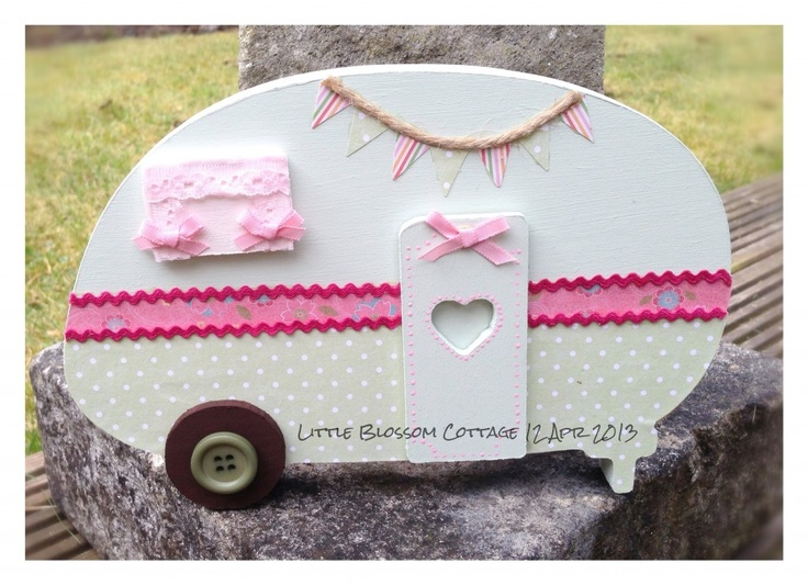 """From """"Little Blossom Cottage"""" : Freestanding Wooden Caravan - The Supermums Craft Fair"""