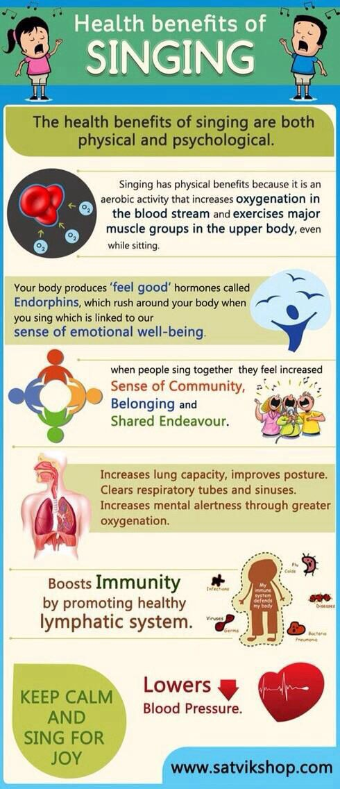 Health benefits of singing. I knew there was a reason why I liked to sing