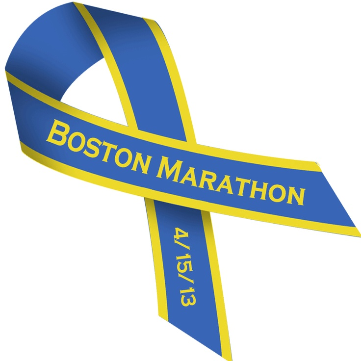 BOSTON MARATHON BOMBING ribbons, this blue background in Marathon colors . . . it's a PNG file with CLEAR background
