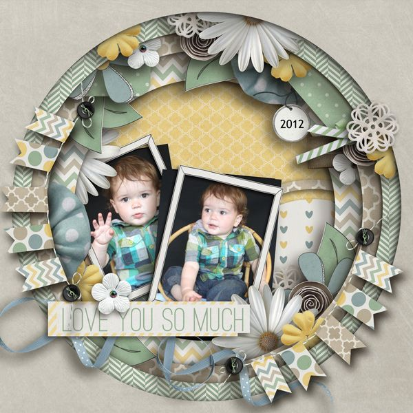 #papercraft #scrapbook #layout love you - Scrapbook.com page*layout