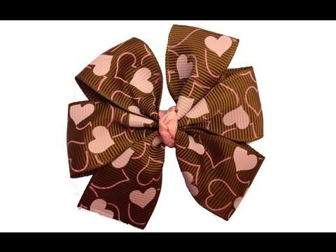 Easy Pinwheel Hair Bow Tutorial with Template - YouTube