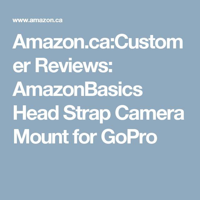 Amazon.ca:Customer Reviews: AmazonBasics Head Strap Camera Mount for GoPro