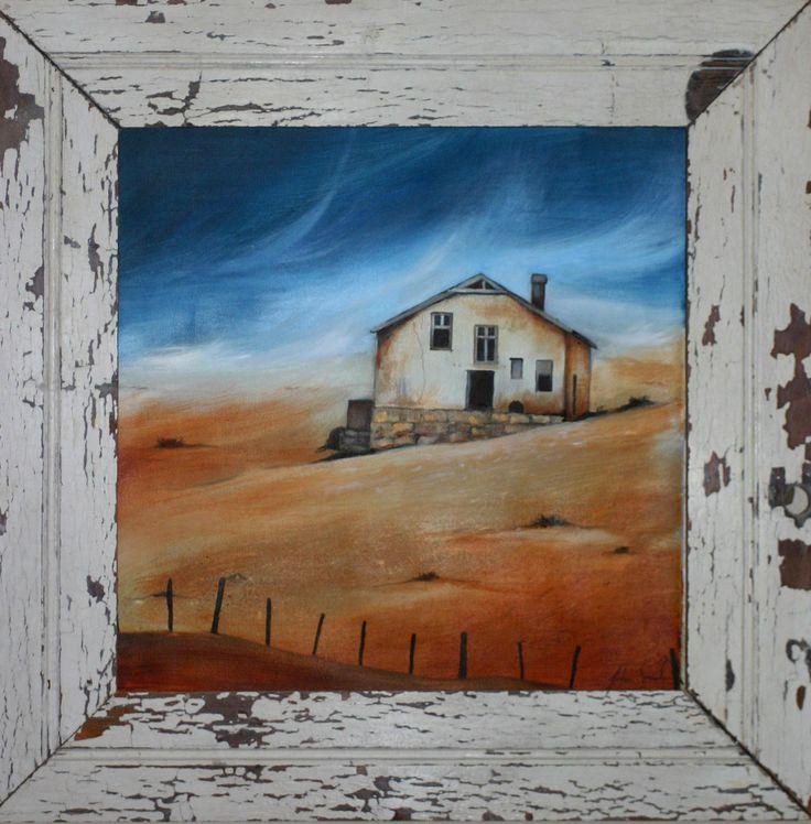 Kolmanskop Ghost Town - Oil Painting by Julie Sneeden