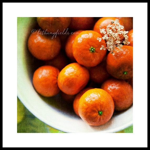 Oranges Kitchen Photography Fruit  Clementines by BethanyFields, $25.00