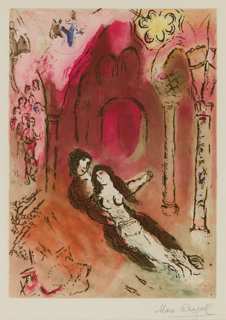 An original Marc Chagall Etching for sale at Christopher-Clark Fine Art.