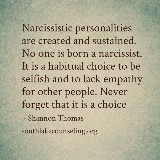 25 Common Misconceptions of a Narcissist SO very worth re-pinning over and over again! this is the absolute truth! never forget that it is a choice! selfishness and lack empathy. it is a learned behavior. generation after generation. maternal narcissism destroys families. no contact. greed. love those who love you.