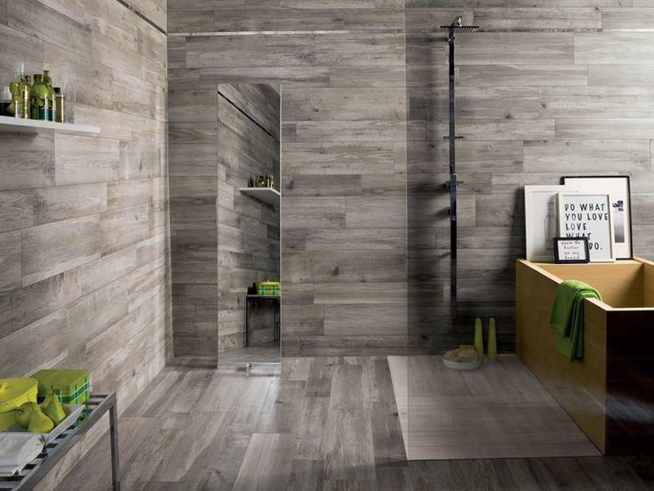 Badezimmer Fliesen In Holzoptik Wand Ariana Larix Tortora Perla