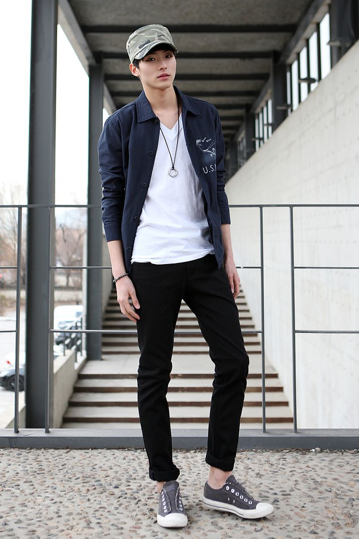 Korean style men winter pictures