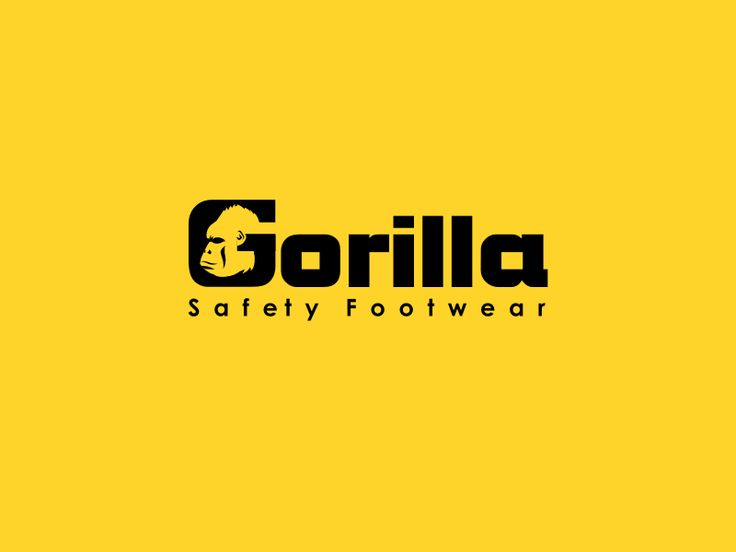 Design a text and icon logo for Gorilla Safety Footwear by Abu Mu'adz