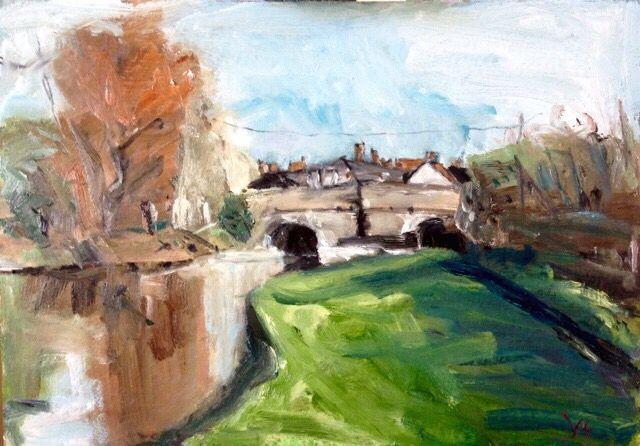 Lock 62 oil painting 40cm x 50cm