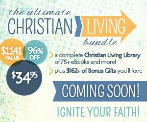 Do you love Christian books? Need some help in your marriage, mothering, or your Christian walk?  The Ultimate Christian Living Bundle offers over $1100 worth of books, audio books, and bonuses for just $34.95, but only for 5 very short days! Don't miss this opportunity to build your library and ignite your faith!