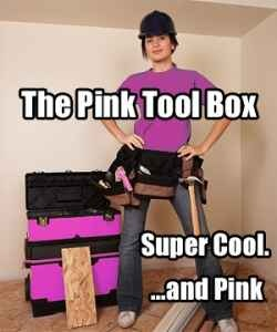 Pink Tool Box & Pink Tools. Gifts for Tough Chicks