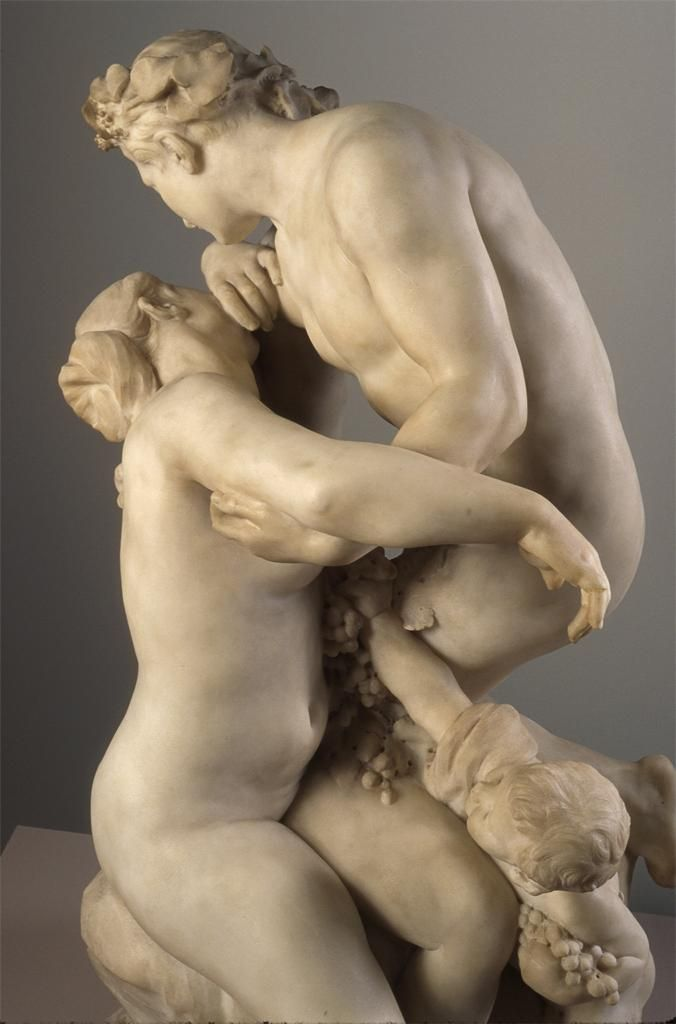 Bacchus Consoling Ariadne c. 1892-French sculptor ,Aimé-Jules Dalou (1838-1902, )  Ariadne, the daughter of King Minos, helped Theseus to escape the labyrinth & was carried by him to the island of Naxos and left there whereupon Bacchus found her..