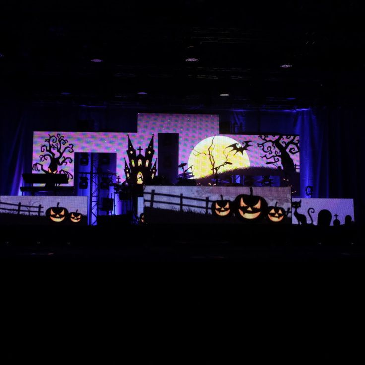 LED Wall Halloween DJ Booth and Stage Set