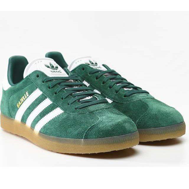 Sportowe Damskie Adidas Adidas Zielone Gazelle 872 Collegiate Green Footwear White Gum 3 Adidas Casual Adidas Samba Sneakers Adidas