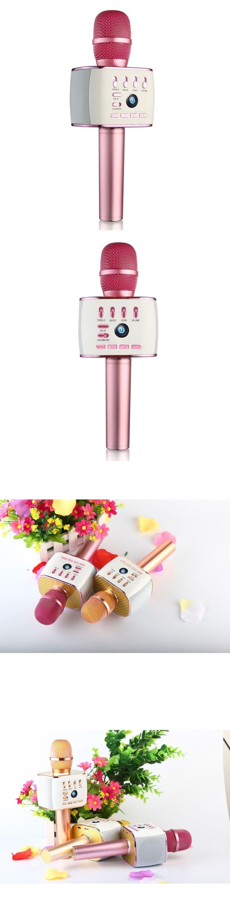 Mini Plug-in Microphones: Dual Speaker Wireless Bluetooth Karaoke Microphone For Ktv Singing Recorder -> BUY IT NOW ONLY: $42.55 on eBay!
