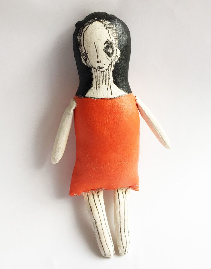 Painted Goth Doll, Illustrated Cloth Doll, Fabric Goth Doll, Soft Sculpture Doll, Miss Muffet Dolls, Plush Goth Doll by MissMuffetDolls on Etsy - Pin now to save for later