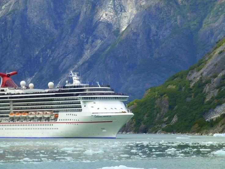 The Carnival Miracle cruising in Alaska