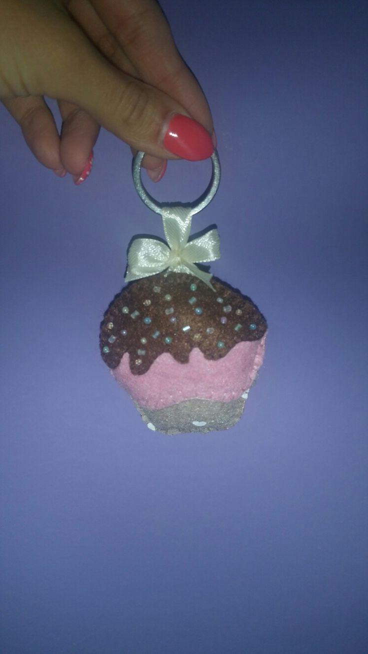 portachiavi cupcake feltro felt Sweet