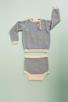 cashmere stripe brief by flora and henri
