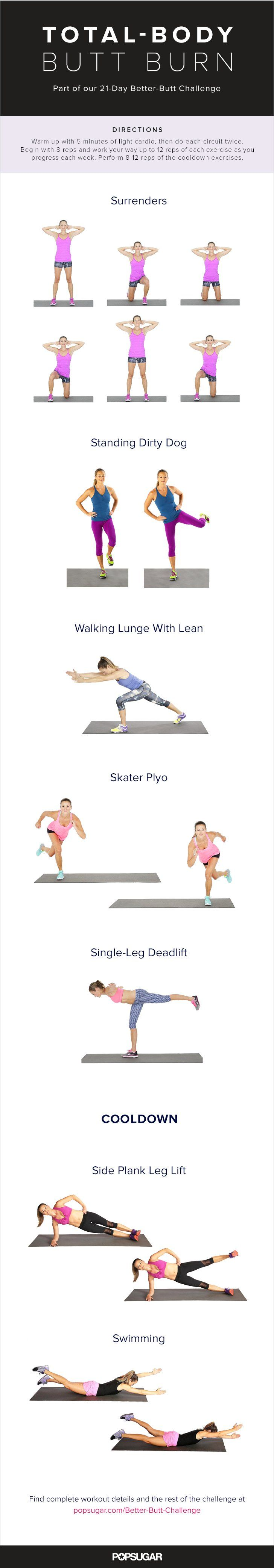 Pin for Later: Better-Butt Challenge: A Bodyweight Workout That Challenges Your Backside