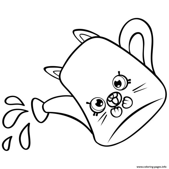 Watering Can Coloring Page Coloring Pages Shopkins Colouring Pages Color