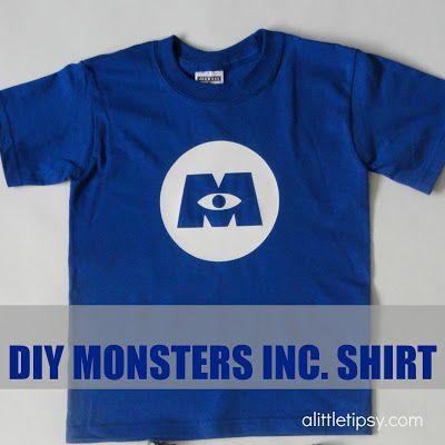 A Little Tipsy: DIY Monsters Inc. Shirt Disney DIY shirt
