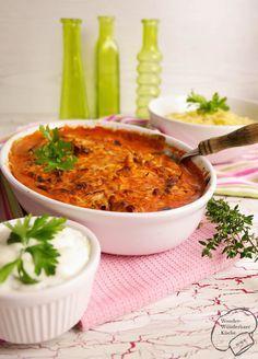 Gyros in Metaxasoße - gut vorzubereiten, mit Pitabrot oder Reis für Spieleabend?