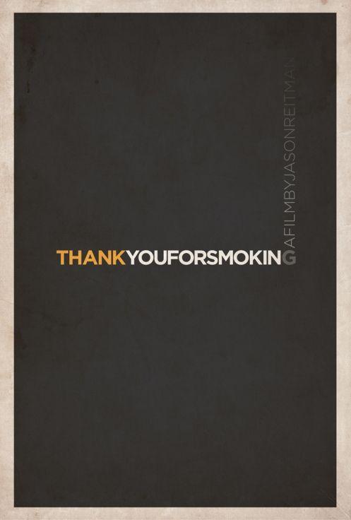 Thank You For Smoking Minimalist Poster by Matt Owen