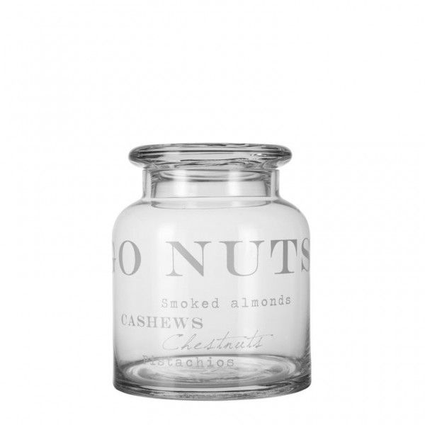'AGNES' collection go nuts glass jar by Lene Bjerre