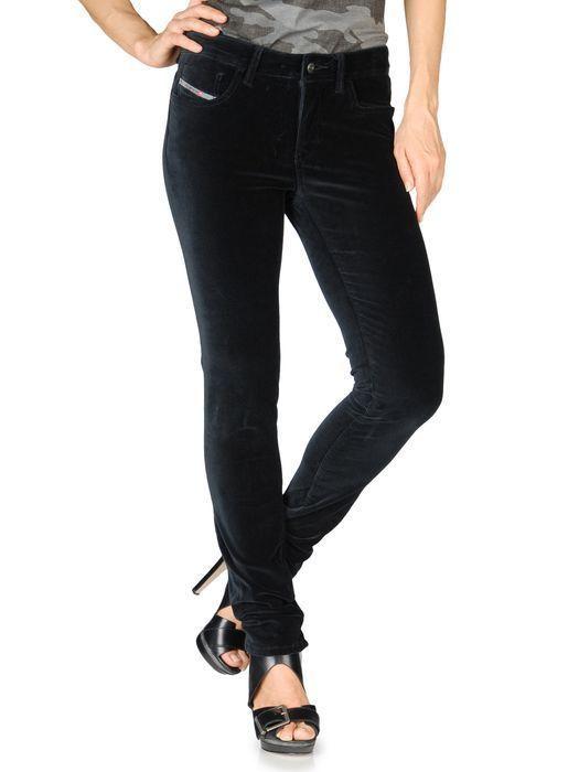 $228 NWT DIESEL P MALPHAS A SKINNY BLACK VELVET PANTS JEANS TROUSERS 24 NEW #DIESEL #SlimSkinny