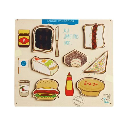 Australian foods jigsaw - by Make Me Iconic