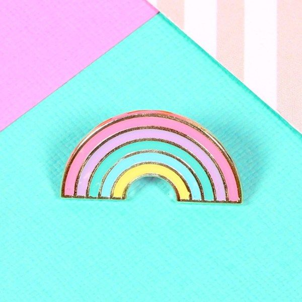 Loving this pastel pallet of colour from Punky Pins – Pastel Rainbow Enamel Pin available from www.thunderegg.co.uk