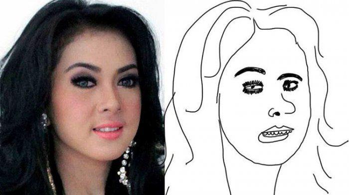 Bukannya Jadi Cantik dan Tampan, 7 Sketsa Wajah Artis Indonesia Ini Bikin Ngakak
